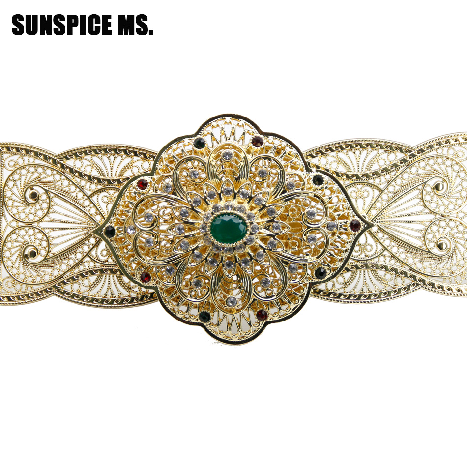 SUNSPICE MS Gold Color Metal Waist Belly Chain Belt Jewelry For Women Wedding Banquet Wasitband Adjust Length Boho Ethnic Bijoux