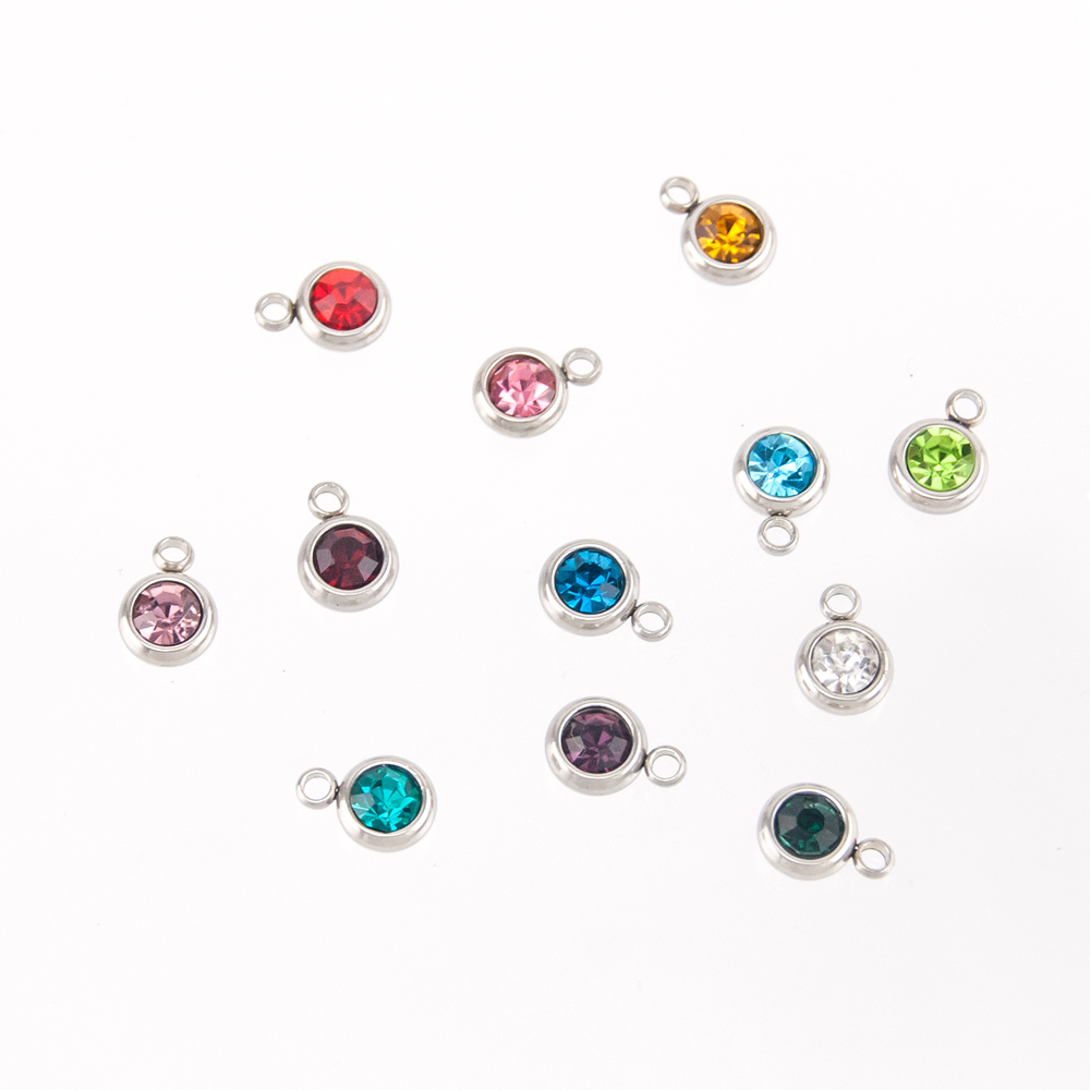 6mm-Birthstone-Charms-For-Jewelry-Stainless-Steel-Pendant-Pierre-Naissance-Geboortestenen-Wholesale-Colorful-Crystal-12pcs-lot