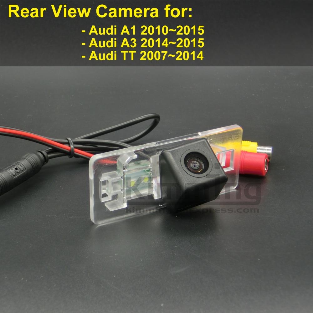 Car Rear View Camera for Audi A1 <font><b>A3</b></font> TT TTS 8J 2007 2008 2009 2010 2011 2012 2013 2014 2015 Wireless Wired Reversing Camera CCD