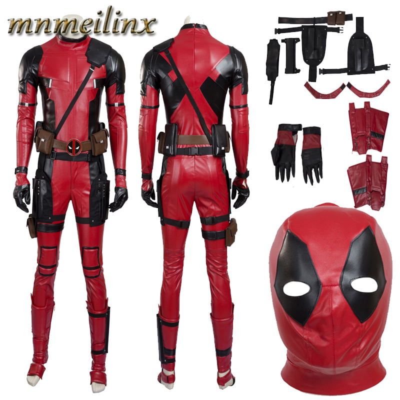 Hot Sales X-Men Deadpool Mutants Wade Cosplay Costume Full Set Mask Any Size Superhero Suit Halloween Outfit Custom Made