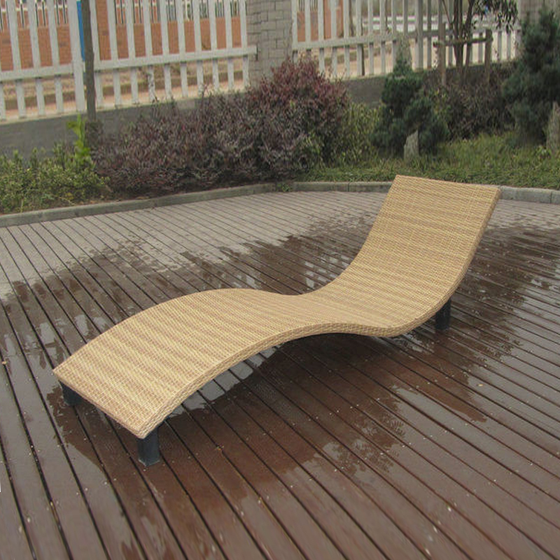 Modern Swimming Pool Waterproof Rattan Sun Lounger to sea port by sea ngr sea otters