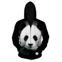 Panda Print 3d Sweatshirt For Men Women Fashion Autumn Winter Jacket 3d Print Zipper Hooded Hoody