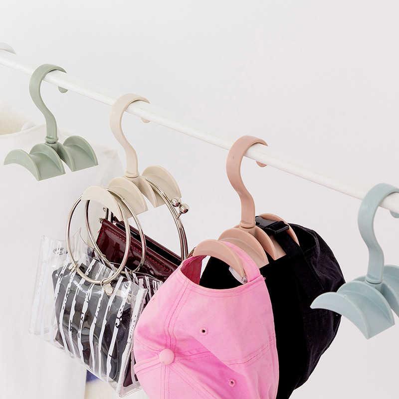 1 шт. вращающийся стеллаж для хранения Сумка Вешалка ремень галстук шарф Органайзер, держатель для шкафа крюк шкаф стеллажи Бесплатная ногтей креативный поворотный головной убор