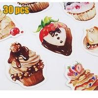 30pcs / lot Cute Cake Postcards group cartoon Christmas Card / Greeting Card / Postcard Gift