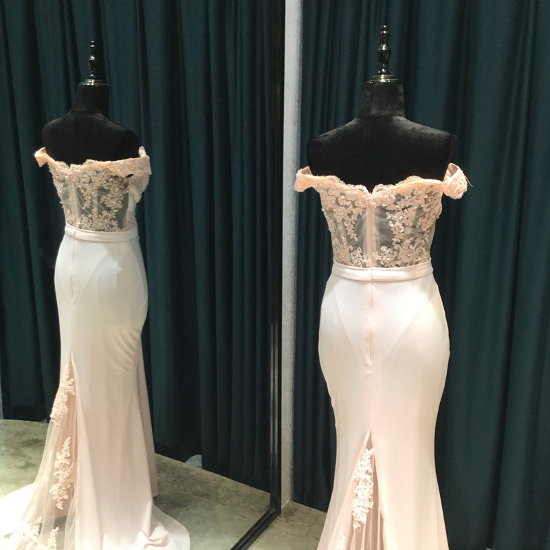 459e762367b4 Ροζ Γοργόνα Prom Φορέματα 2018 Στράπλες Κοντά μανίκια Φερμουάρ Sweep ...