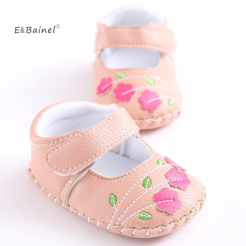 E&Bainel Newborn Baby Moccasin Babies Shoes Soft Bottom PU Leather Toddler Infant First Walkers Shoes
