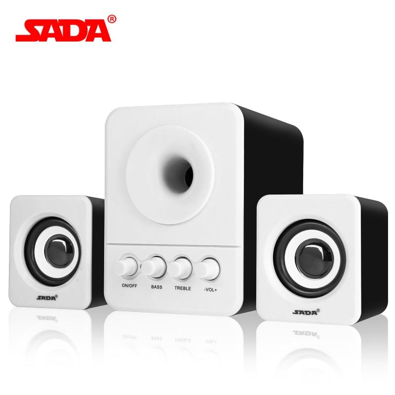 SADA Wired Combination Speaker Suitable For Desktop Computer Mobile Notebook Computer Speaker USB 2 1 Bass