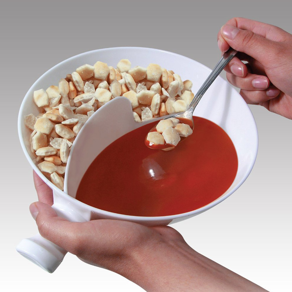 Creative 2 in 1 Handle Separated Bowl With Handle Home Isolated Bowl With Snack Separated Bowl Snack Cereal Bowls