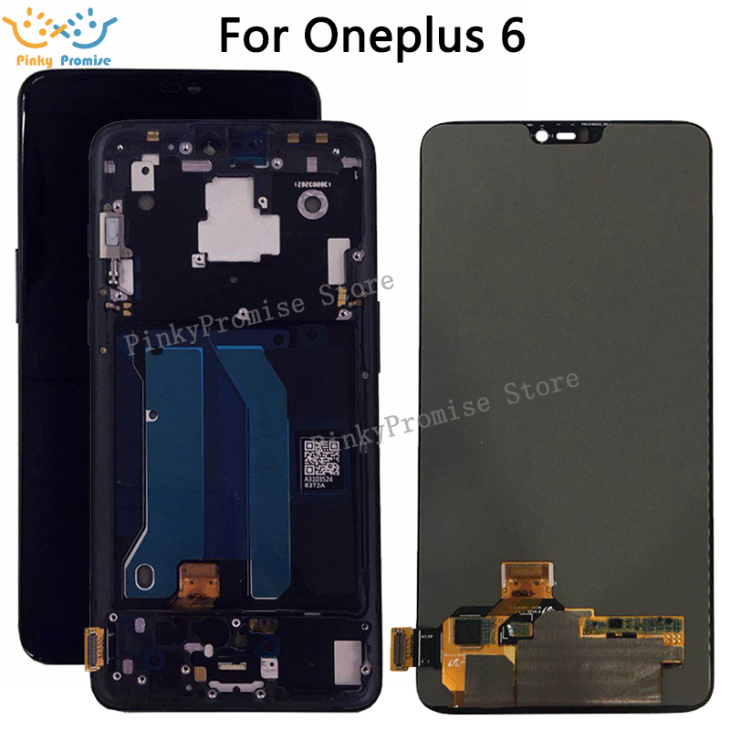 6 28 For Oneplus 6 1 6 LCD Display Digitizer Screen Touch Panel Sensor 2280 1080