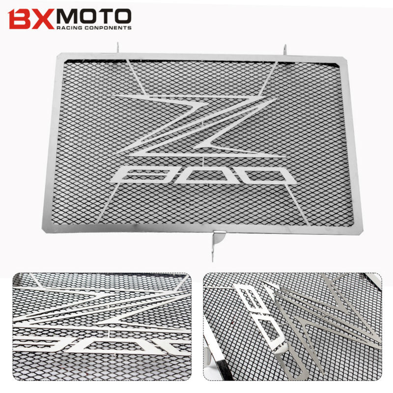 Motorcycle Accessories Motorbike Stainless Steel Engine Radiator Bezel Grill Guard Cover Protector For Kawasaki Z800 2013-2017 stainless steel radiator guard cover grill protector fit for kawasaki vulcan s 15 16 vulcan 650