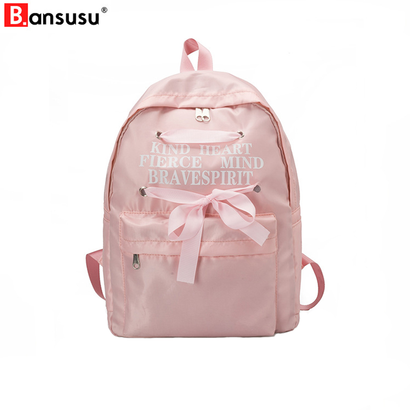 fbacf0425873 Detail Feedback Questions about BANSUSU Women Backpack Bow Ribbons School  Bags For Teenager Girls Fashion Travel Bag Fresh University Student  Backpacks ...