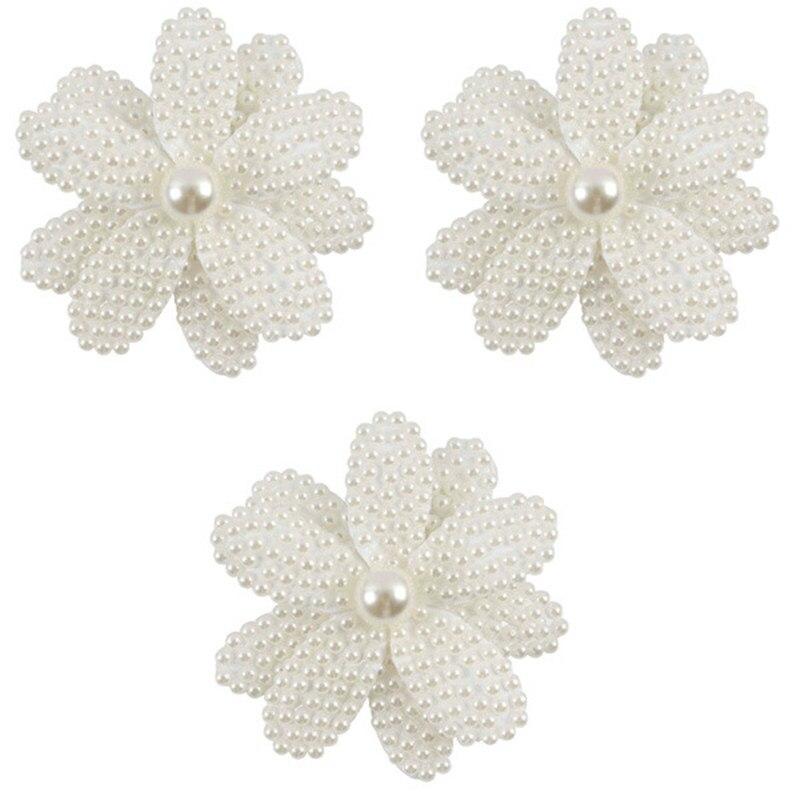 Заколки для волос с белым жемчугом и цветком для девочек