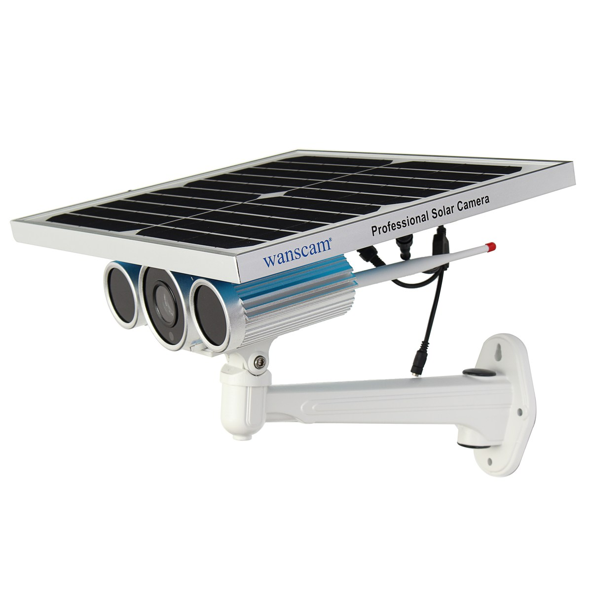 Outdoor Solar&Battery Security IP Camera Wifi Home Surveillance Wireless 12W Remote Agricultural Monitoring Network Cam