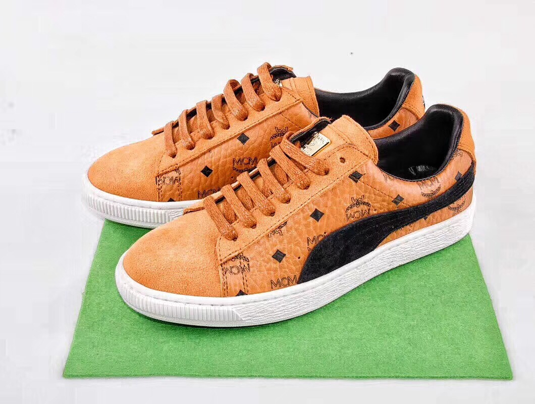 2018 PUMA x MCM Classic Suede Sneakers Shoes Mens and Womens Lovers Shoes Badminton Shoes Size 36-44