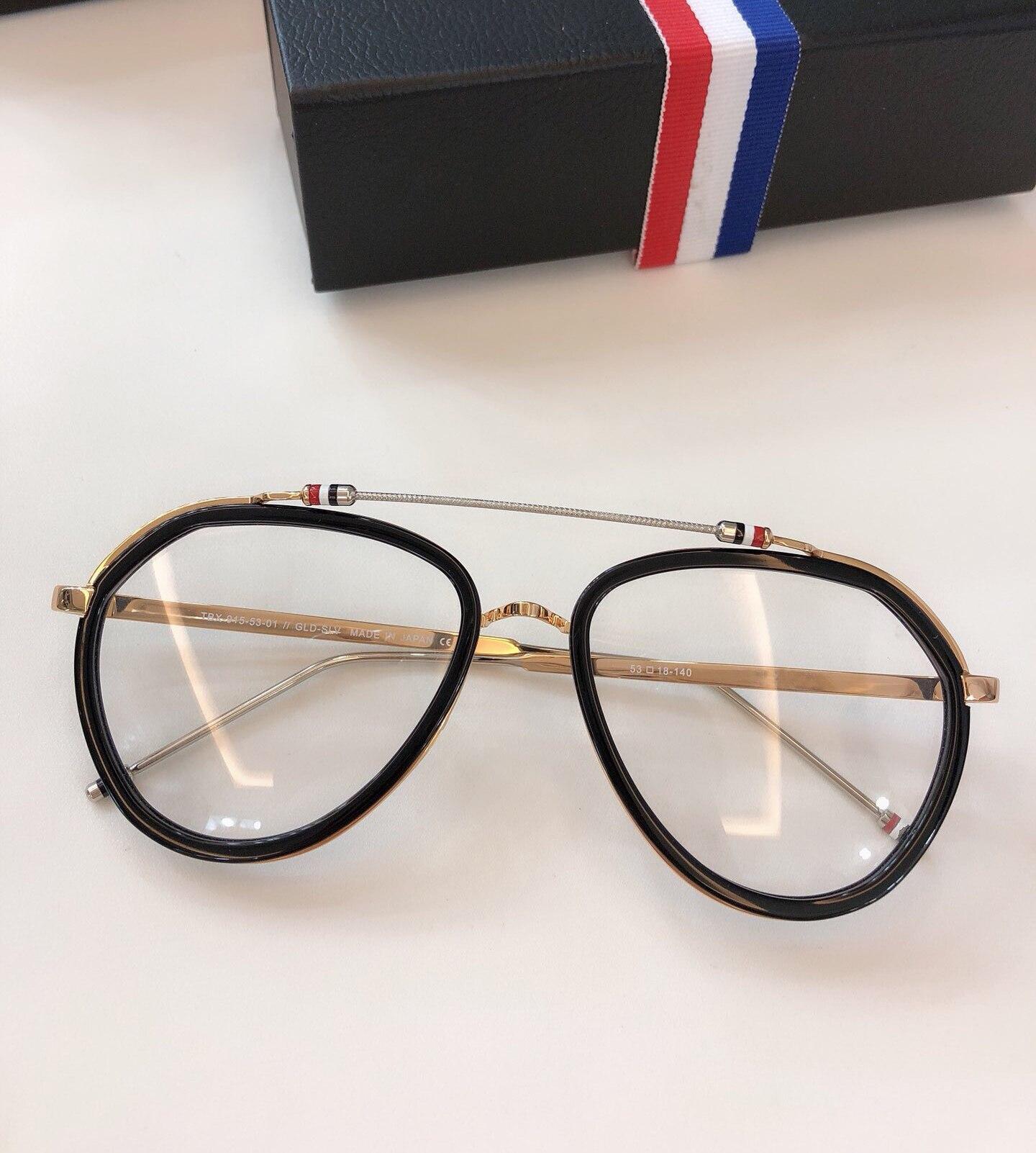 New York Vintage optique thom lunettes cadre hommes femmes ordinateur myopie lunettes de vue lunettes cadre femmes femme avec boîte - 6