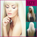 Harajuku 60-65cm Straight Long blonde Synthetic Wig Real Hair For Cosplay Party Wigs With Bangs 613#