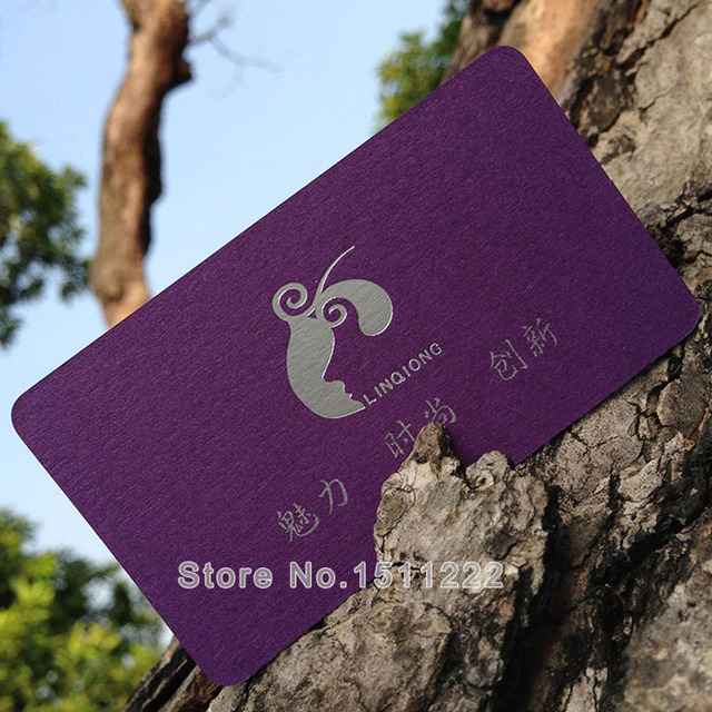 Custom business cards printing free shipping color name card silver custom business cards printing free shipping color name card silver foil purple star light paper card reheart Images
