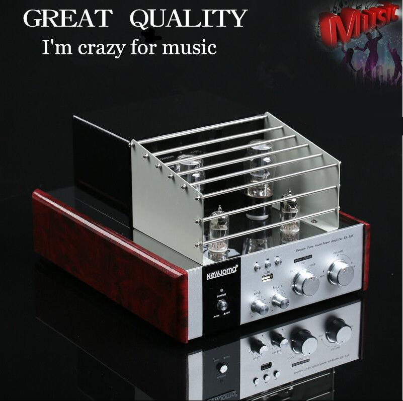 Music Hall Vacuum Tube Audio Power Amplifier Class A HiFi Stereo Hybrid AV Desktop Amp USB Support USB/SD Card Play 2017 new music hall integrated hifi high power digital amplifier u disk sd card pc usb bluetooth 4 0 free shipping