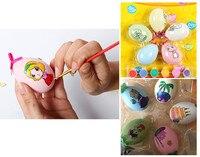 5 pz/set Per Bambini Fai da Te Pittura Uova di Disegno Giocattolo Giocattoli Educativi Regalo di Pasqua