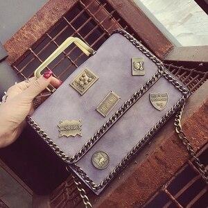 Image 4 - حقيبة بطراز عتيق للنساء حقيبة كتف للنساء حقيبة ساع حقيبة يد مصمم Bolsas Feminina