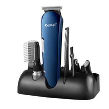 New Washable Kemei 6in1 Rechargeable Hair Trimmer Titanium Hair Clipper Electric Shaver Beard Trimmer clipper trimer hair cut