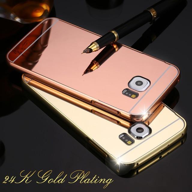 Marco Del Metal de Aluminio de Lujo Caja del teléfono Para Samsung Galaxy S6 + e