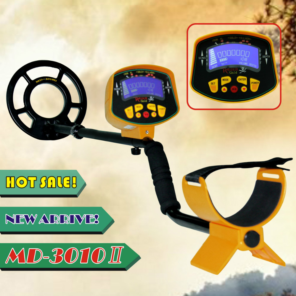 MD-3010II Professional underground Metal Detector Fully Automatic with LCD Display Gold silver Digger Treasure Hunter MD3010II professional md 3010ii underground metal detector gold digger treasure hunter md3010ii ground metal detector treasure seeker