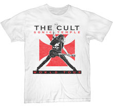The Cult Sonic Temple 89 Tour Mens White Rock T Shirt New S-3XL  Summer Short Sleeves Fashion T-Shirt