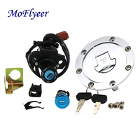 MoFlyeer Partol Motorcycle Fuel Gas Tank Cap Cover Seat Lock Key Set Ignition Switch For Honda CBR600RR 1000RR