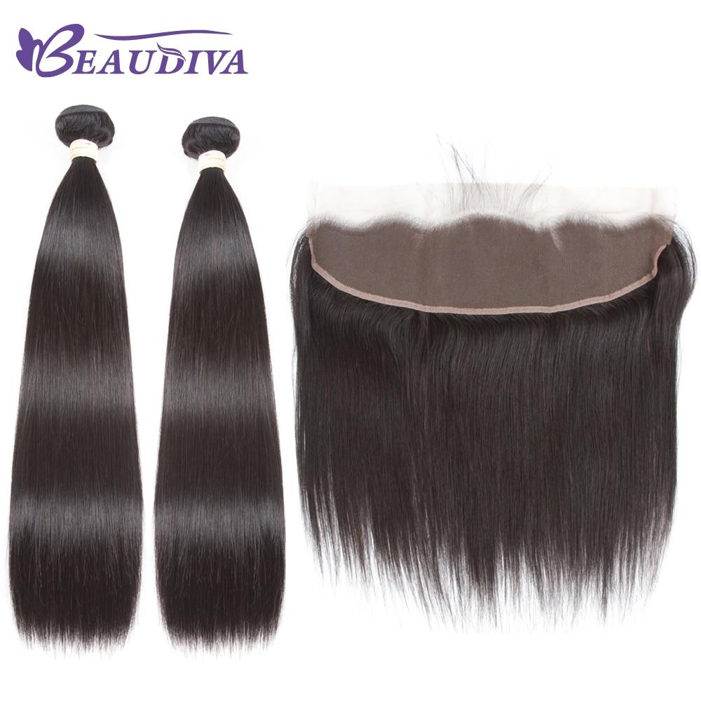 BEAUDIVA Pre-Colored Straight 1B # Natural Color del cabello humano - Productos de belleza