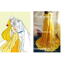2016 SAILOR MOON Sailor Venus Minako Aino Cosplay Costume High Quality Custom Made Yellow Dress