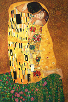 Museum Quality The Kiss by Gustav Klimt Master Oil Painting on Canvas Wall Art Painting Abstract Canvas Pictures