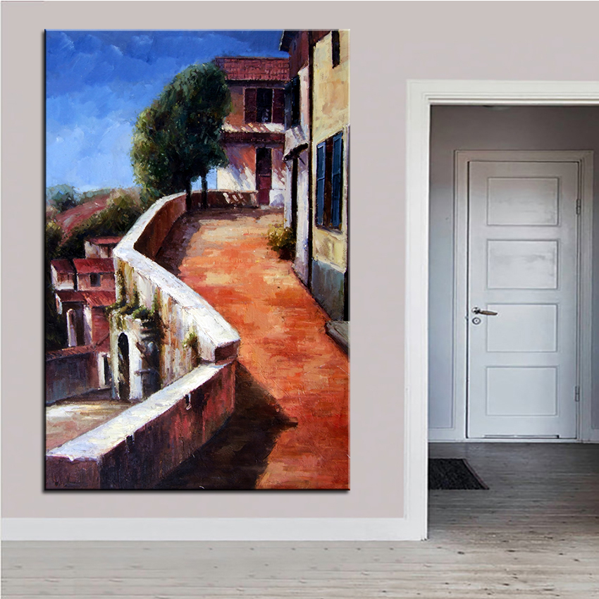 Extra Large Wall Painting Of Rampway Home Office