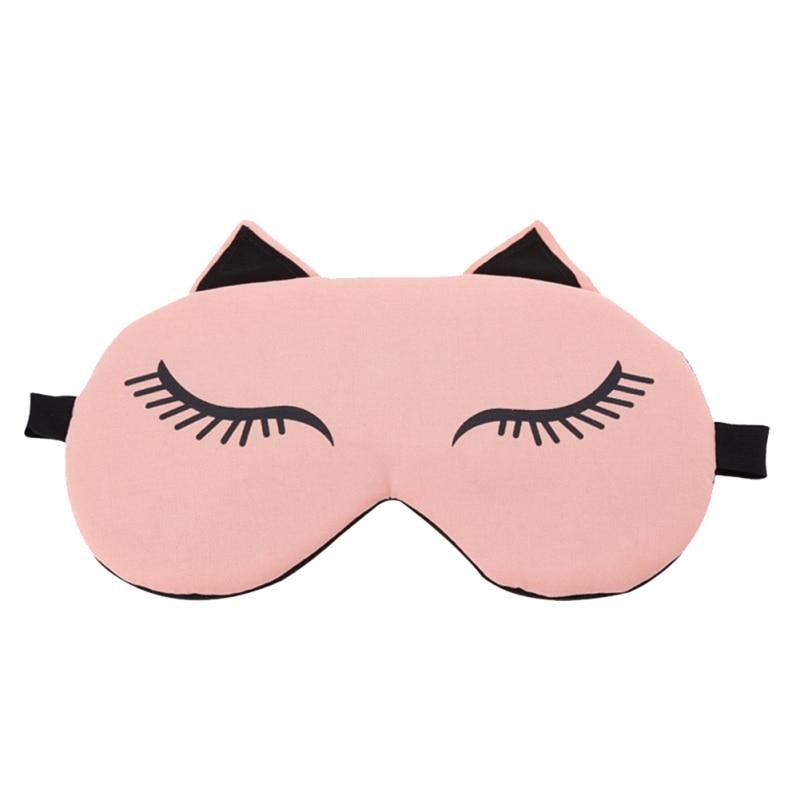 Cute Cat Sleep Eye Маскасы Travel Eyepatch Blindfold - Денсаулық сақтау - фото 4