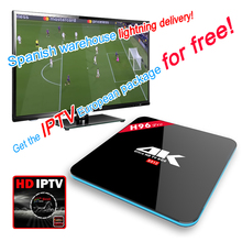 Hot H96 Pro 3G 16G Android HD TV Box Get the IPTV Europe Package for free 3000+ VOD Live+ Sports TV Programs