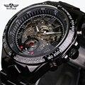 Winner Black Dial Stainless Steel Horloge Watches Men Luxury Brand Automatic Skeleton Sport Style Watch Clock Men Military Watch
