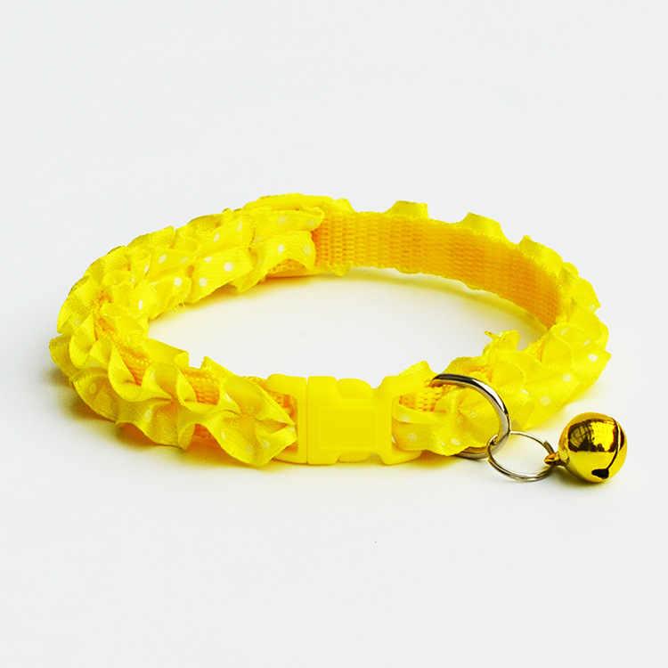 ペットの猫の首輪製品小型子犬ペット犬の首輪ベル調整可能な首輪犬の首輪ハーネスチワワ