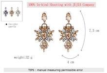 Crystal Stud Earrings Multicolored