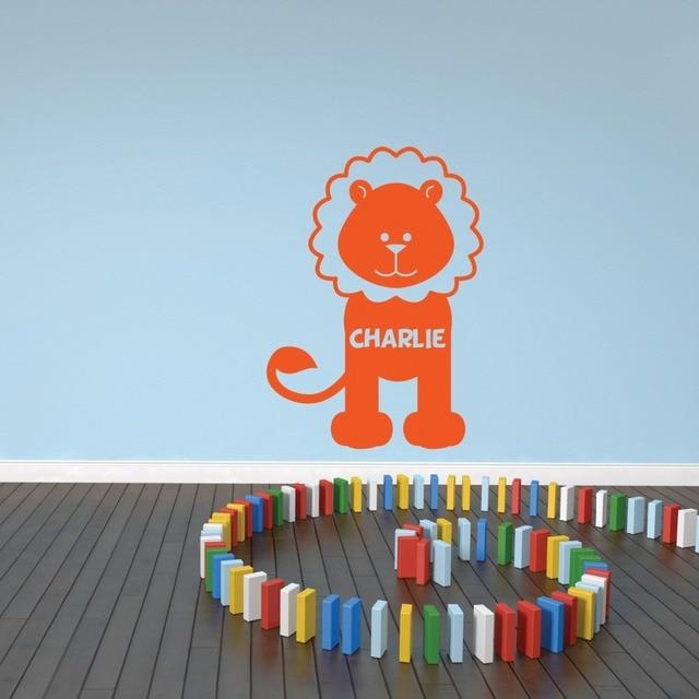 Personalised lion wall sticker jungle kid room cute animal wall art wall transfers childrens nursery wall