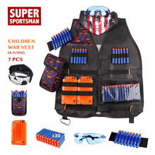 Boys Men Hunting Army Vest Kids Airsoft Gear Children Military Equipment Tactical Suits Outdoor Clothing Set Sniper Clothes 7pcs(China)