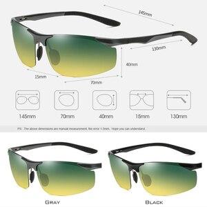Image 5 - Brand Aluminum Polarized Day Night Driver Sun Glasses Polarized Male Sun Glasses For Men Eyewear Accessories UV400 8179