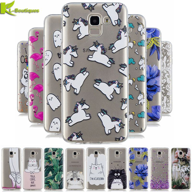 J6 2018 Case on for Samsung Galaxy J6 2018 J600 J600F Case Cover Cute Cartoon Clear Soft Silicon Phone Cover for Samsung J6 2018