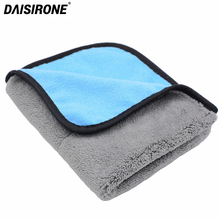 1PCS 45x38cm Car Wax Polishing Detailing Towels Car Washing Drying Towel Super Thick Plush Microfiber Car