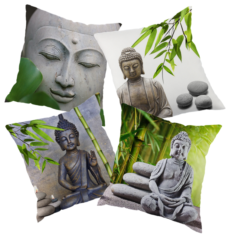 Europe style zen printed Decortive throw pillow case decorate pillow case