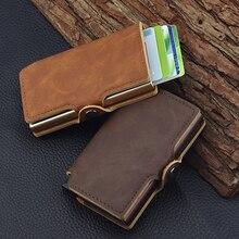 Minimalist Anti Rfid Blocking Wallet Men's Money Clip Slim Mini Wallet