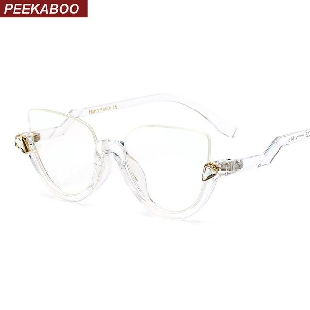 Peekaboo 8 modelos transparentes claras vidros do olho de gato retro sexy  vintage da moda armações 8aa25ee642