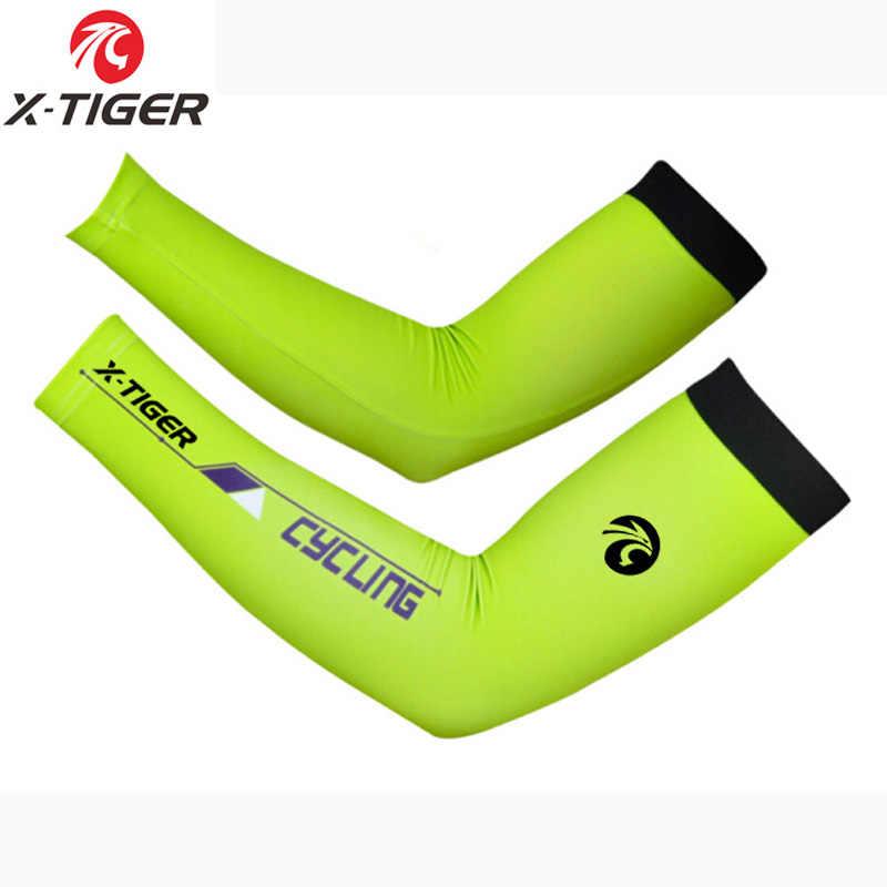 X-Tiger Anti Sinar UV Bersepeda Armwarmer Musim Panas Bernapas Sepeda Gunung Penghangat Cepat Kering Balap MTB Sepeda Armwarmer Pria wanita