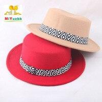 New Style Baby Child Adult Men Woman Autumn Winter Hairy Hat England Retro Jazz Woolen Hat