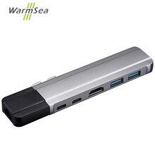 USB C концентратор type C адаптер Thunderbolt 3 до 4K HDMI гигабитный Ethernet с 1000 Мбит/с 2 USB 3,0 порта USB C Зарядка для Macbook Pro