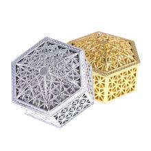 1 unidad creativa de 7,7 cm caja plástica para dulces de la boda cajas de dulces de la vendimia Cajas de Regalo de Chocolate cajas de regalo de boda Favor de la fiesta